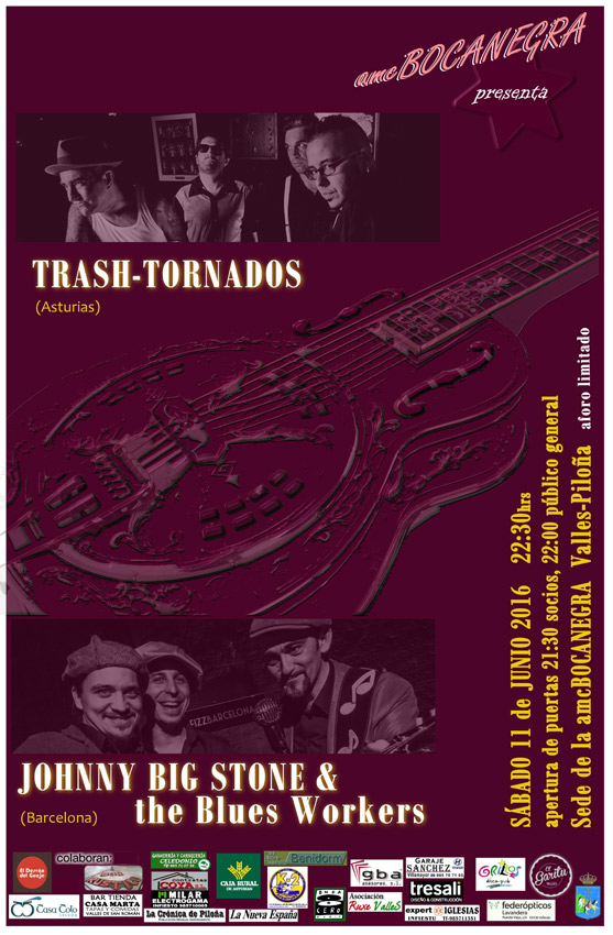 Concierto Trash Tornados y Johnny Big Stone & The Blues Workers